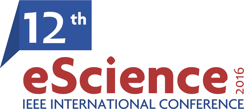 Logo for the 12th EScience, 2016